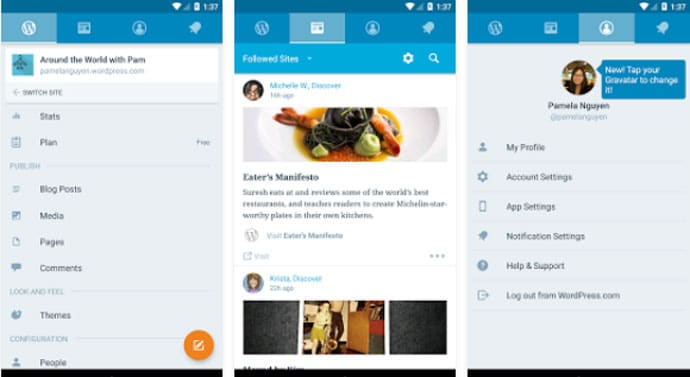WordPress - Best Android App for Bloggers