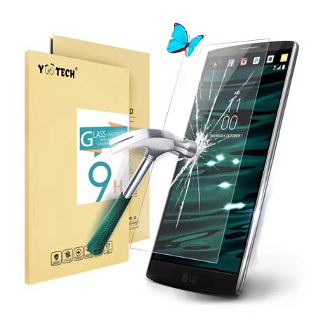 Yootech LG V10 Tempered Glass Screen Protector