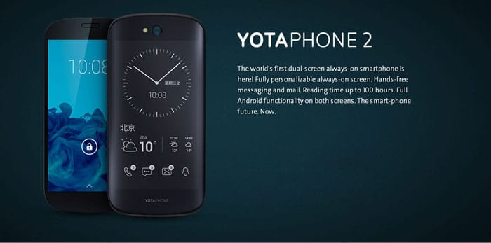 Yotaphone 2 Always on Back Screen