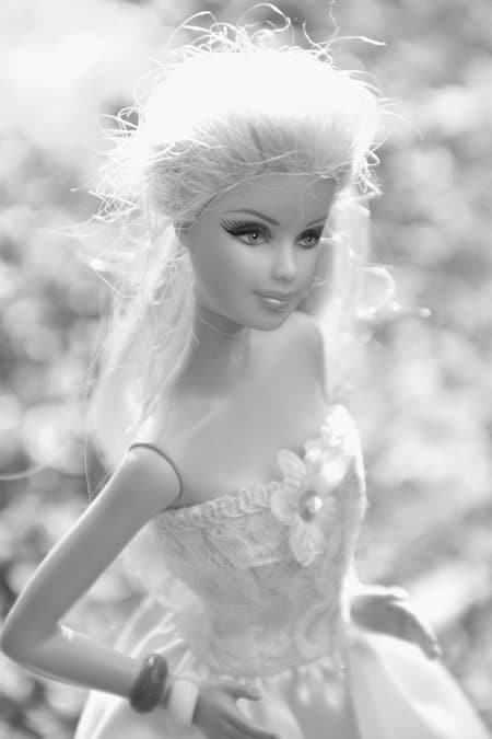 black and white princess dall image