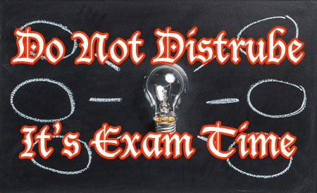 do not distrube exam time funny image