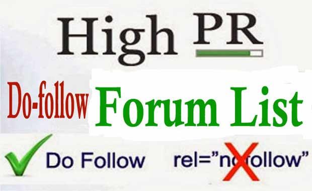 Dofollow Forum List