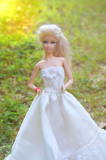 doll image with white dress