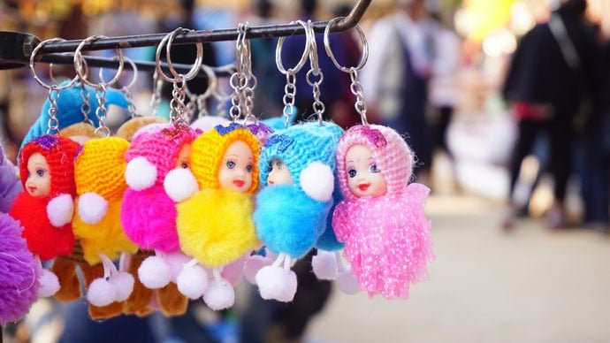 dolls key ring image