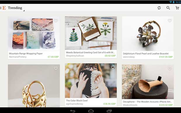 Etsy - Best Shopping Apps for Android