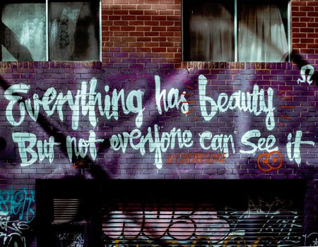 everything has a beauty