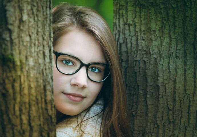 Glamorous Girl Smiling Face