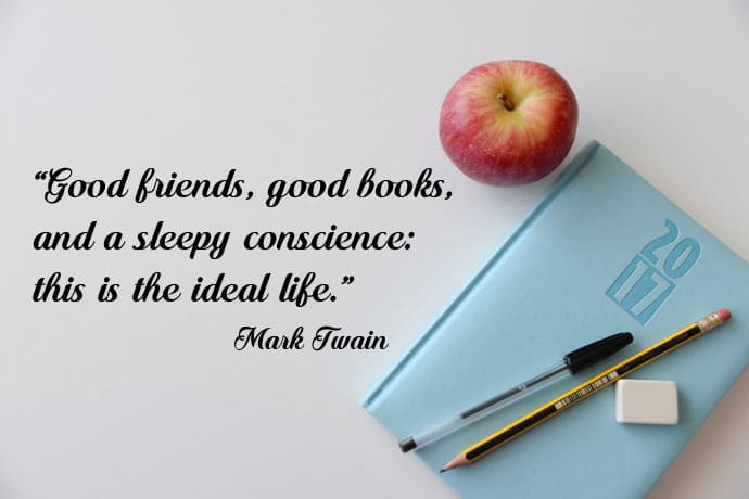 good friends and good books