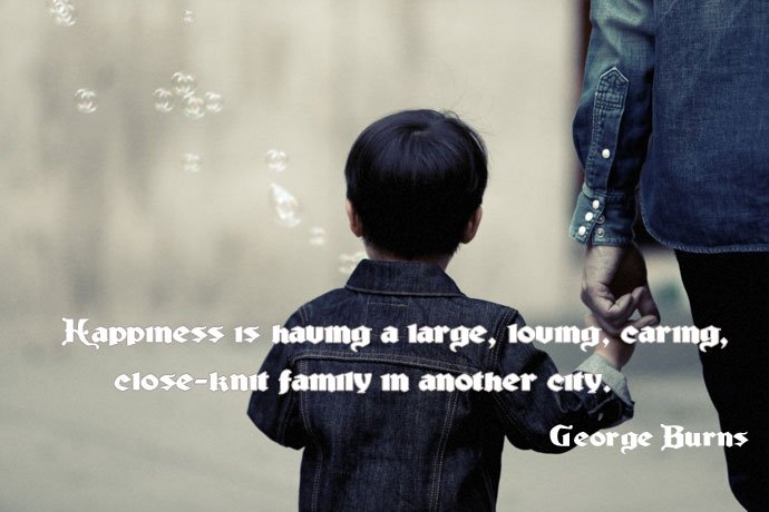 happines is having a large family quote