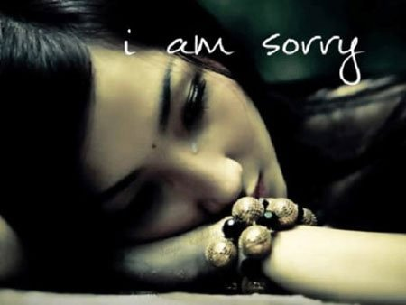 i am sorry sad quote image