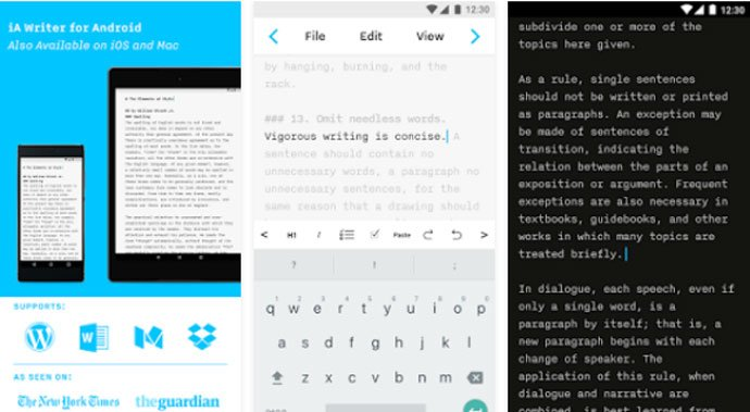 iA Writer - Must Have Android Apps for Writers