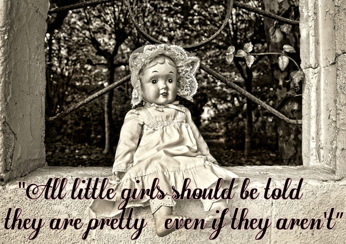 Cute Doll Image with Quote