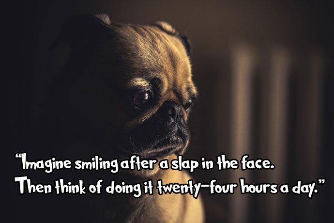 imagine smile sad quotes