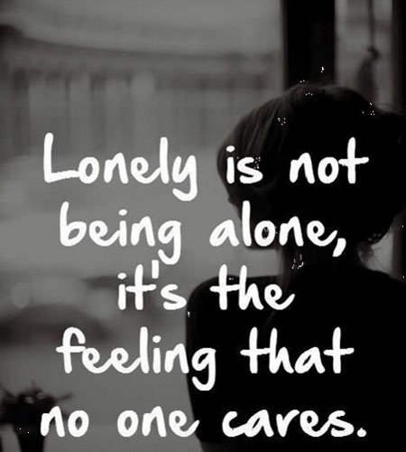 lonely is not being alone sad quotes