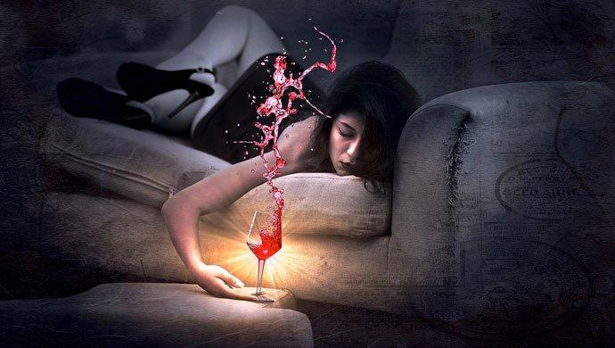 love failure women drunk