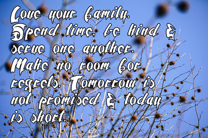 Love Your Family Quote DP for WhatsApp
