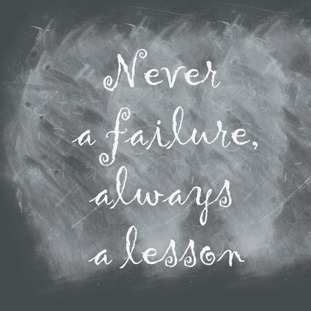 never a failure quote for friends