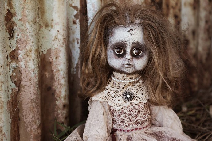 scary doll image