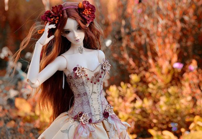 sweet modern doll image