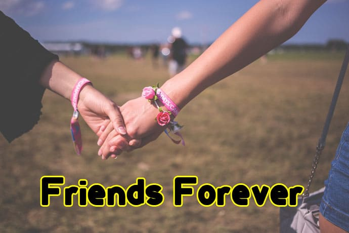 two hand with friends forever promise