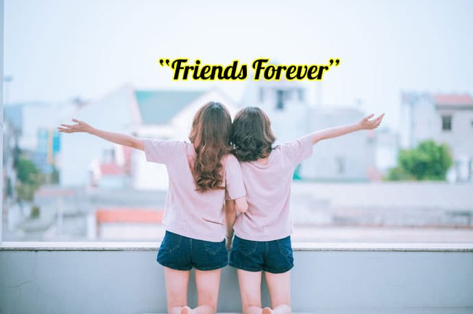 two girls friends forever